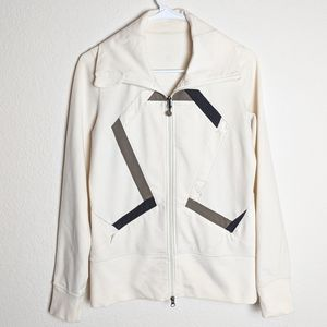 Lululemon zip up origami jacket white size 6
